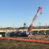 橋桁がかかった!台風19号被害の日野橋が着々と復旧中
