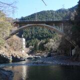 御岳渓谷に架かる御岳橋の変遷